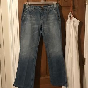Super cute 7 FAM boot cut jeans with slits size 30